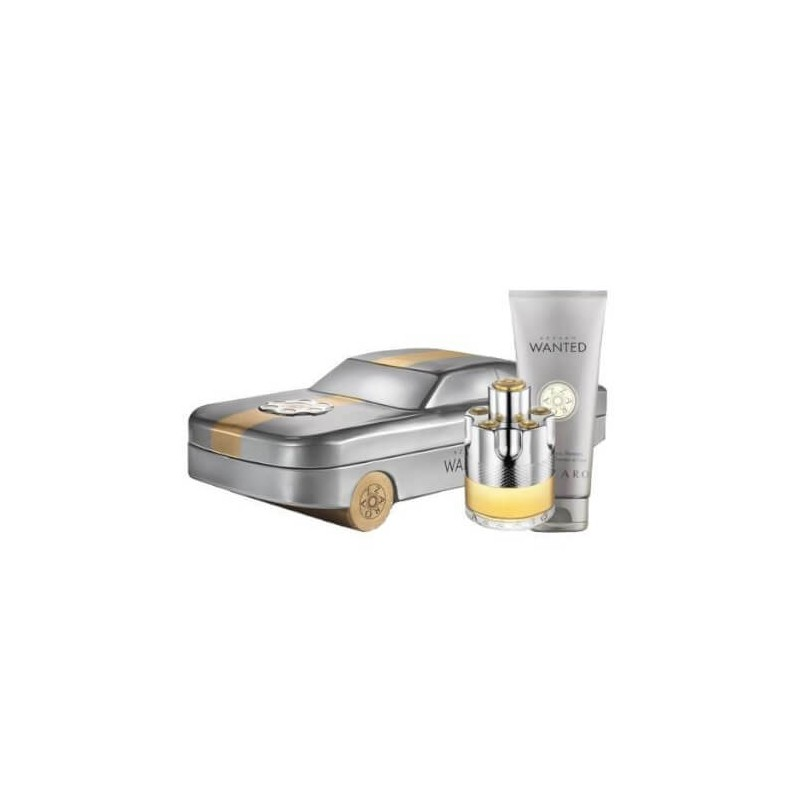Azzaro Wanted Car H Edt 50Ml+Body Shampooing Cheveux et Corps 100Ml