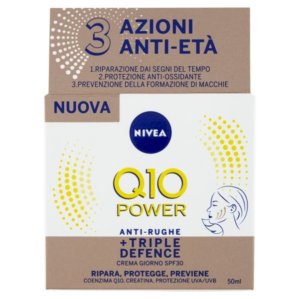 Nivea Crema Antirughe Q10 Anti Rughe Spf 30 50Ml Triple Defence