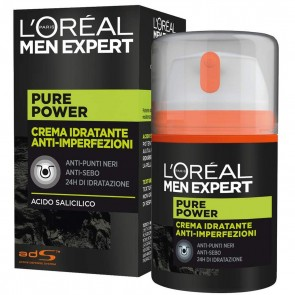 L'Oréal Paris Men Expert Crema Idratante Pure Power, 50 ml