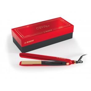 KIEPE Professional 30 W, Piastra in nano titanio 90 x 24 mm, 4 livelli, 170°C - 230°C, 100-250 V, Rossa