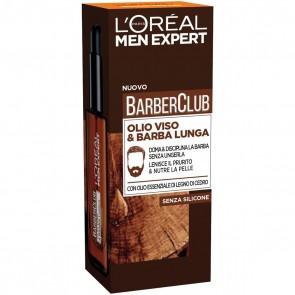 L'Oréal Paris Men Expert Barber Club Olio viso & barba lunga, 30 ml