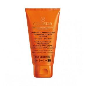 Collistar Crema Viso Abbronzante Protezione Globale Anti-Età SPF30, 50 ml